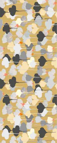 Chemin de table floral : Ginkgo
