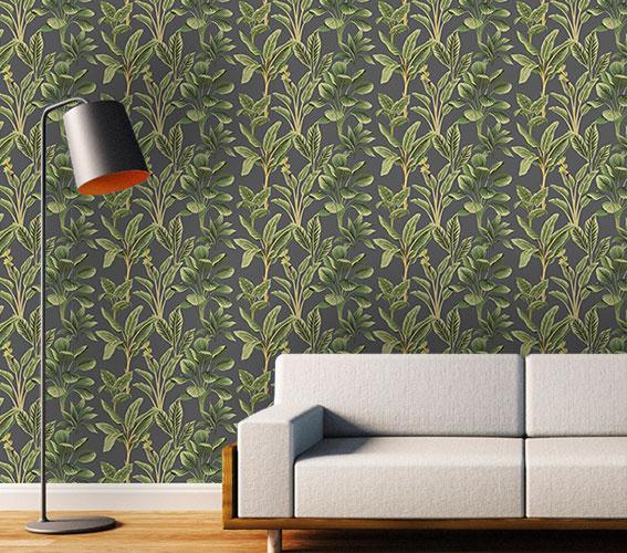 Papier peint végétal : Tropical (65 x 260 cm)