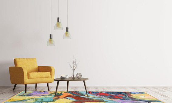Tapis pictural : Palette